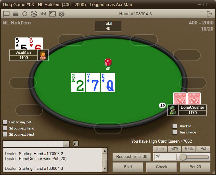 Poker hands dealt per hour