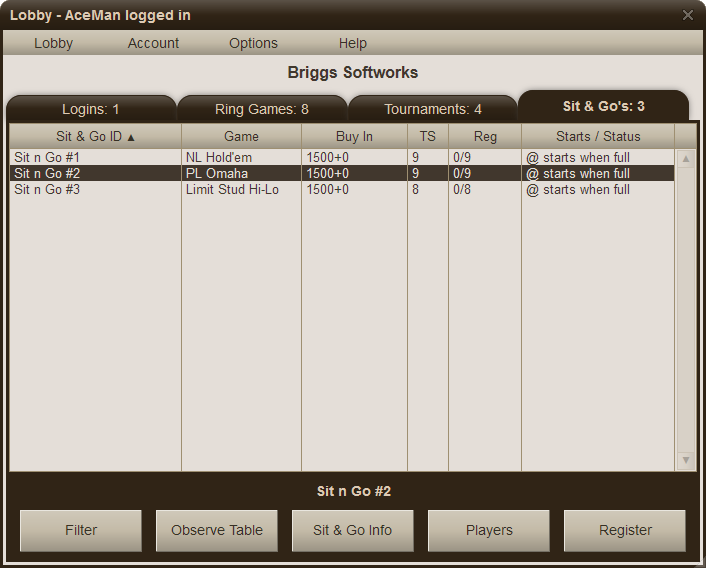 Screenshot of Poker Mavens