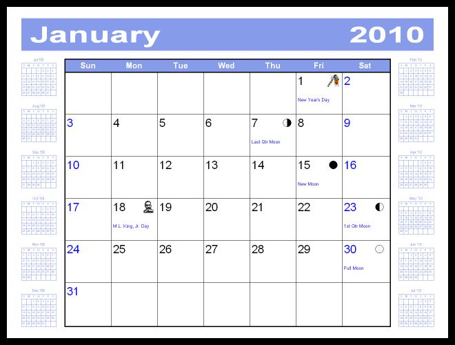 Briggs Softworks Calendar Commander Sample Calendars – Sample Calendar