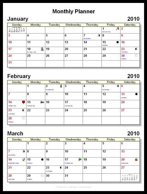 Monthly Calendar Report : Calendar driverlayer search engine